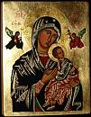 Our Lady of Perpetual Help copy of icon from the Redemptorist temple of Saint Alphonsus Liguori in Rome