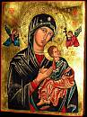 Our Lady of Perpetual Help. Copy of the icon in the Redemptorist temple of Saint Alphonsus Liguori, Rome