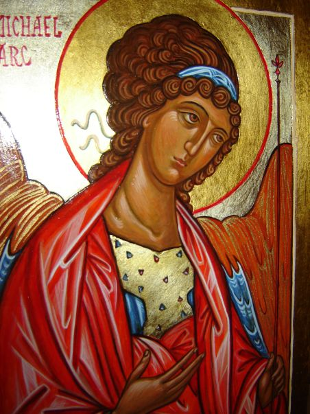 The Archangel Michael, copy of the Andrei Rublev icon