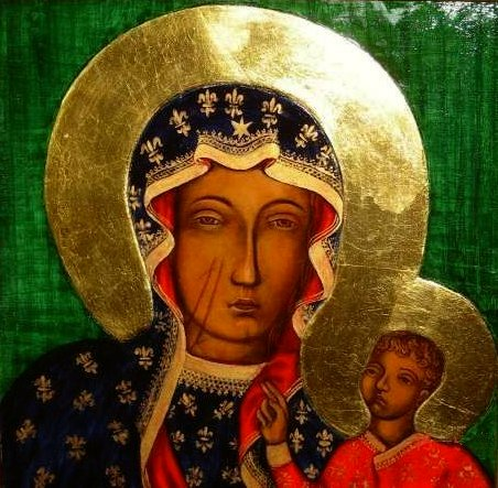 Icon Our Lady of Czestochowa, Icon Black Madonna of Czestochowa