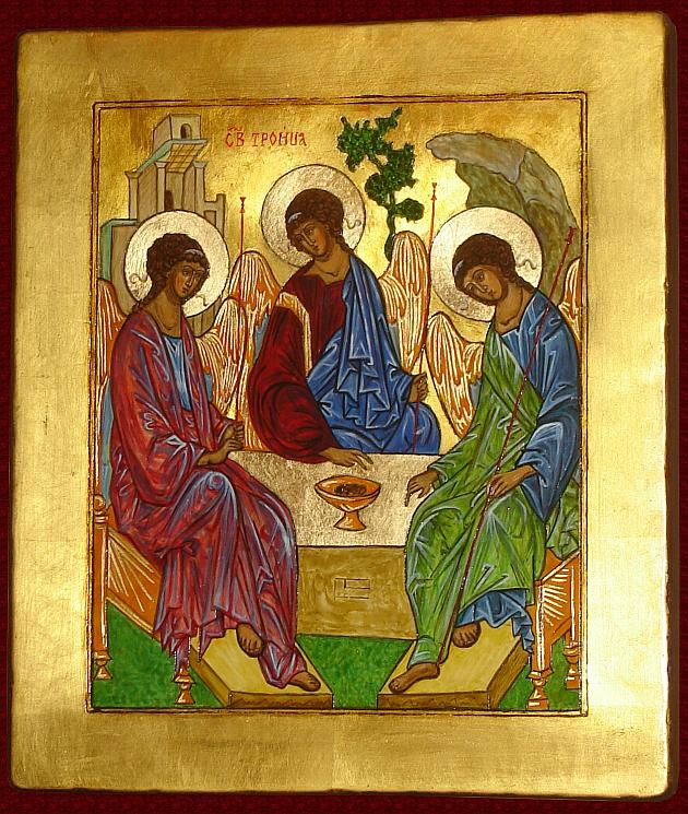 Icon The Holy Trinity - Rublev, hand-painted copy of icon